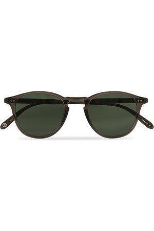 GARRETT LEIGHT Hampton 46 Sunglasses Black Glass