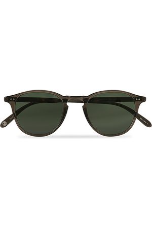 GARRETT LEIGHT Herren Sonnenbrillen - Hampton 46 Sunglasses Black Glass