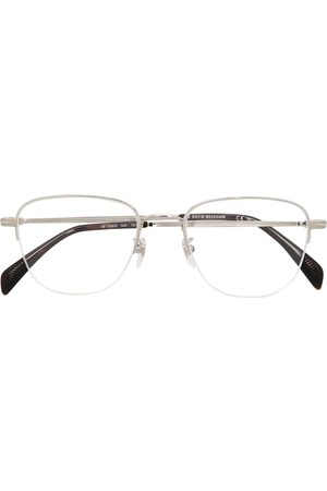 Eyewear by David Beckham Eckige Halbrandbrille