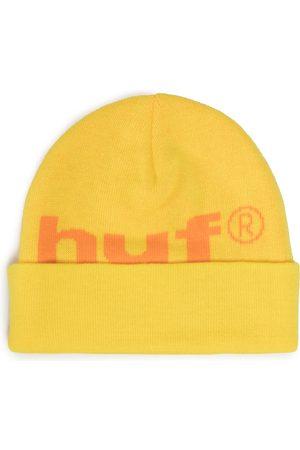 HUF 98 Logo Beanie BN00093 Yellow