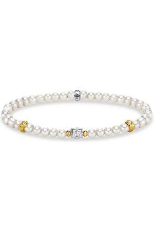 Thomas Sabo Armband » Perlen mit Halbmond , A1979-430-14-L15,5, 17«, mit Süßwasserzuchtperlen