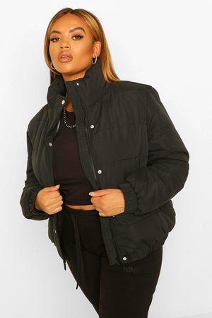 Boohoo Womens Plus Puffer Jacke Mit Trichterkragen - - 42