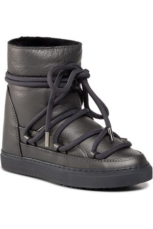 INUIKII Damen Winterstiefel - Snkr F.Leathr Wdge 70203-089 Dark Grey