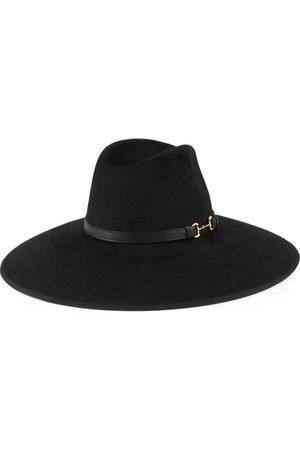 Gucci Damen Hüte - Filzhut mit breiter Krempe und Horsebit