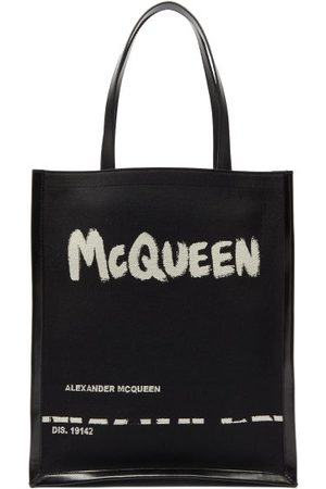 Alexander McQueen Logo-print Canvas And Leather Tote Bag