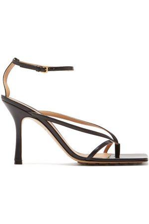 Bottega Veneta Stretch Square-toe Leather Sandals