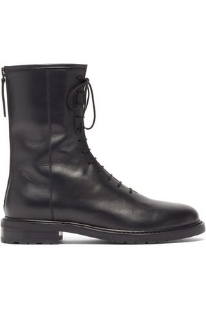 LEGRES Lace-up Leather Boots