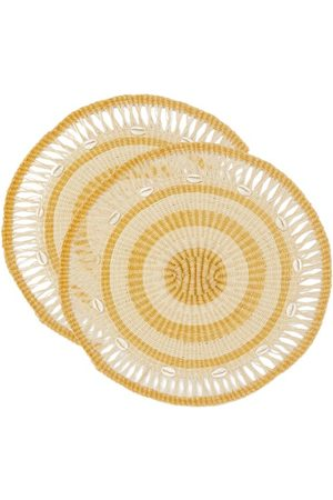 SENSI STUDIO Set Of Two Shell-embellished Round Placemats