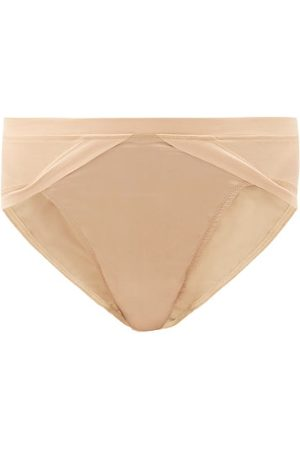 Rossell England High-rise Silk-blend Briefs