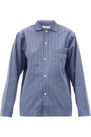 Tekla Striped Organic-cotton Pyjama Shirt