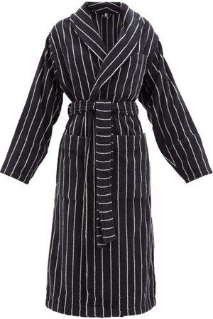 Tekla Damen Bademäntel - Striped Cotton-terry Bathrobe