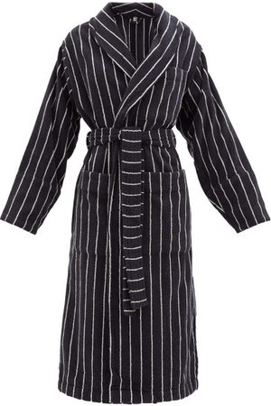 Tekla Striped Cotton-terry Bathrobe