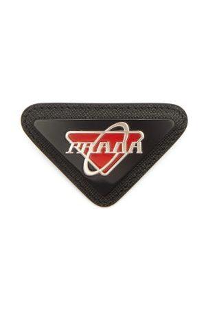 Prada Logo-plaque Leather Brooch
