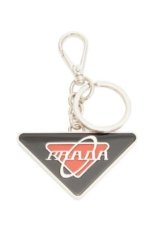 Prada Enamel Logo Key Ring