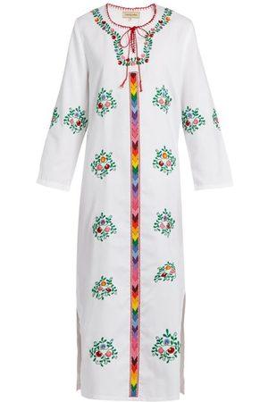 Muzungu Sisters Jasmine Floral-embroidered Cotton Dress