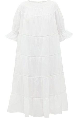 Merlette Paradis Tiered Cotton Midi Dress