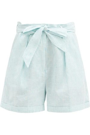 Loup Charmant Tellin Striped Linen Shorts