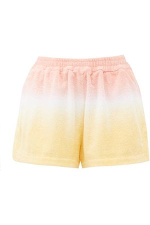 TERRY Estate Tie-dyed High-rise Cotton- Shorts