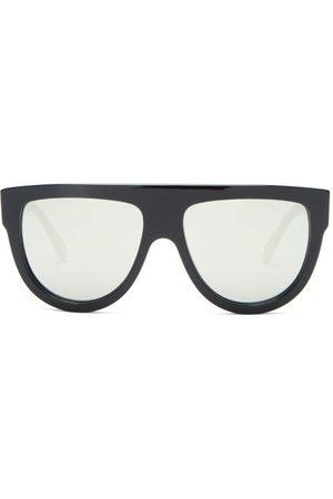 Céline Mirrored Flat-top Acetate Sunglasses