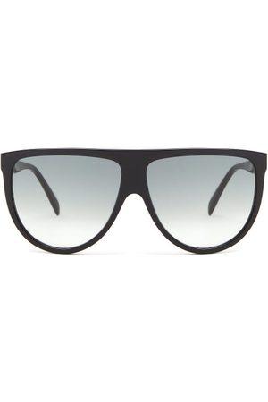 Céline Oversized Flat-top Acetate Sunglasses