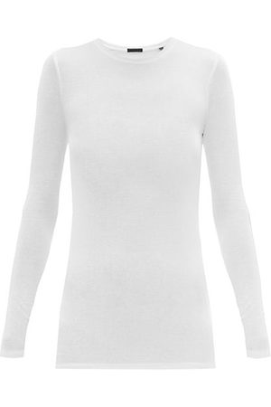 ATM Anthony Thomas Melillo Ribbed Long-sleeved Micromodal T-shirt