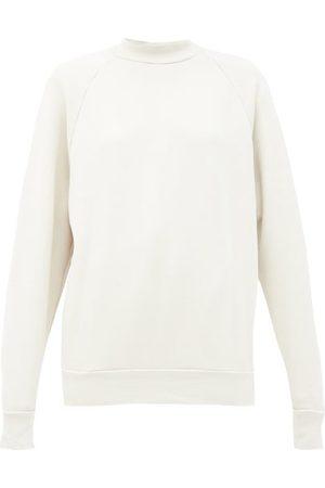 Les Tien High-neck Brushed-back Cotton Sweatshirt