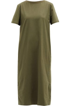 Moncler Damen Freizeitkleider - Press-stud Cotton T-shirt Dress