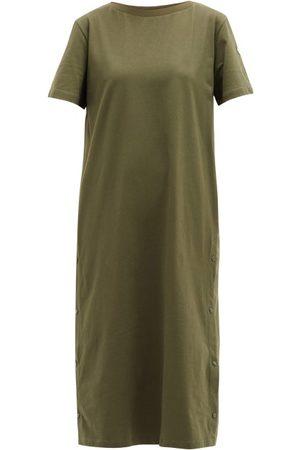 Moncler Damen Freizeitkleider - Press-stud Cotton T-shirt Dress