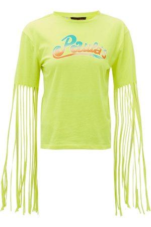 Loewe Paula's Ibiza Fringed Logo-print Jersey T-shirt