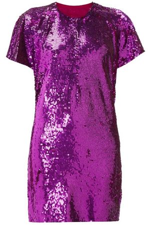 ASHISH Cutout-back Sequinned Mini Dress
