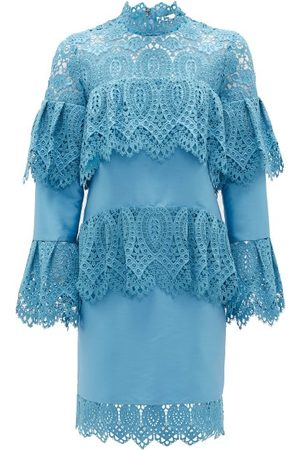 Erdem Lyndell Layered Guipure-lace & Mikado Satin Dress