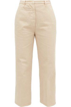 Prada High-rise Front-pleat Straight-leg Jeans