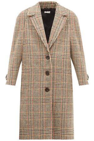 Miu Miu Single-breasted Checked Wool-tweed Coat