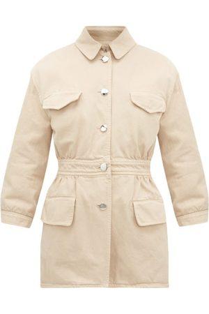 Prada Triangle-appliqué Denim Safari Jacket