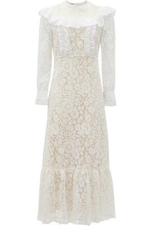 Miu Miu Floral-lace And Broderie-anglaise Cotton Dress