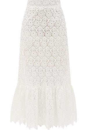 Miu Miu Tiered Cotton-blend Lace Midi Skirt