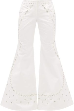 FRANCOISE Studded Flared Cotton Trousers
