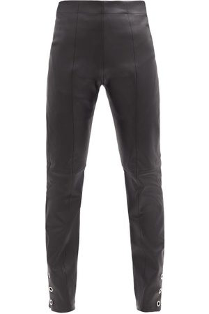 Ludovic De Saint Sernin High-rise Eyelet Zip-cuff Leather Trousers