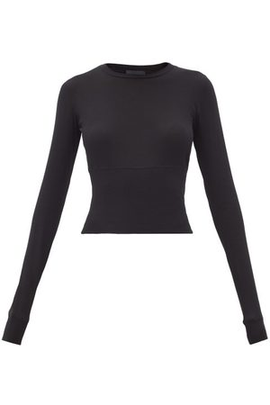 WARDROBE.NYC Release 06 Long-sleeved Cropped Cotton-jersey Top