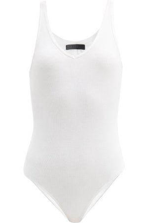 ATM Anthony Thomas Melillo V-neck Ribbed-jersey Bodysuit