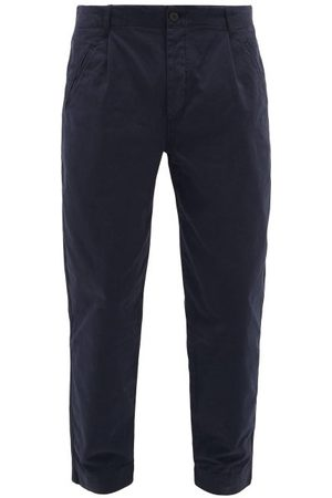 Folk Assembly Cropped Cotton-twill Chino Trousers