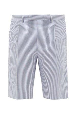 Prada Striped Cotton-poplin Shorts