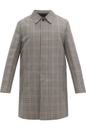 Prada Single-breasted Checked Wool-blend Coat