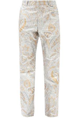 Paco rabanne Paisley-jacquard Lurex Straight-leg Trousers