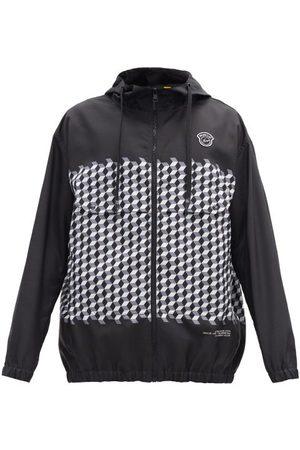 7 Moncler Frgmt Hiroshi Fujiwara Kaplan Hooded Tile-print Windbreaker Jacket