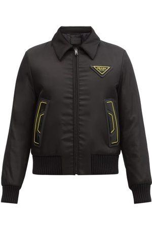 Prada Triangle Logo-patch Padded-shell Bomber Jacket