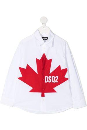 Dsquared2 Hemd mit Blatt-Print