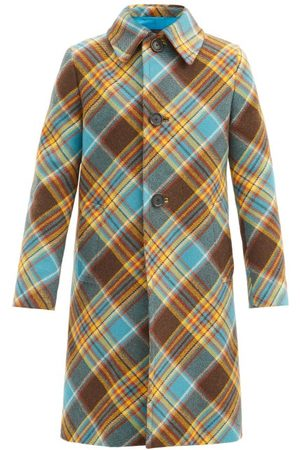 Prada Tartan Wool Overcoat