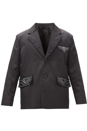 Prada Rubber Logo-patch Recycled-nylon Coat