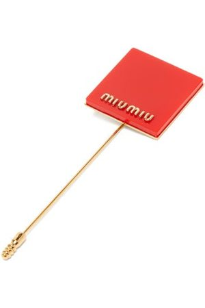 Miu Miu Logo-plaque Pin Brooch